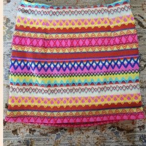 multicolored skirt size large